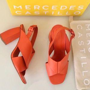 Mercedes Castillo Hae Orange Slingback Sandal SZ
